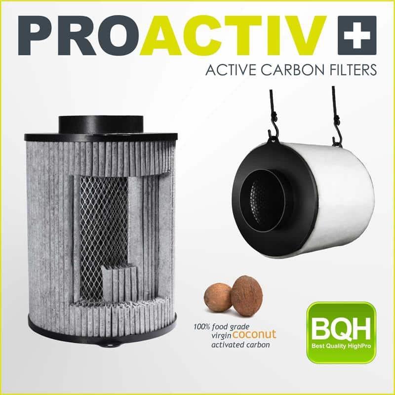 Filtro de carbon 100mmx250 m3/h ProActive